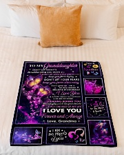 """PROUD OF YOU - LOVELY GIFT FOR GRANDDAUGHTER Small Fleece Blanket - 30"""" x 40"""" aos-coral-fleece-blanket-30x40-lifestyle-front-04"""