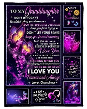 """PROUD OF YOU - LOVELY GIFT FOR GRANDDAUGHTER Small Fleece Blanket - 30"""" x 40"""" front"""