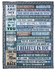 "THE BEST BY FAR IS YOU - GRANDMA TO GRANDDAUGHTER Small Fleece Blanket - 30"" x 40"" front"