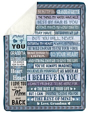 "THE BEST BY FAR IS YOU - GRANDMA TO GRANDDAUGHTER Large Sherpa Fleece Blanket - 60"" x 80"" thumbnail"