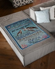 "I LOVE YOU - GRANDMA TO GRANDSON Small Fleece Blanket - 30"" x 40"" aos-coral-fleece-blanket-30x40-lifestyle-front-03"