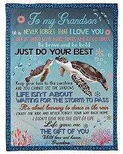 "I LOVE YOU - GRANDMA TO GRANDSON Small Fleece Blanket - 30"" x 40"" front"