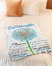 """I LOVE YOU - AMAZING GIFT FOR GRANDDAUGHTER Small Fleece Blanket - 30"""" x 40"""" aos-coral-fleece-blanket-30x40-lifestyle-front-01"""