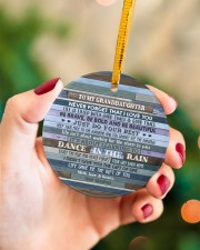 JUST DO YOUR BEST - GREAT GIFT FOR GRANDDAUGHTER Circle ornament - single (porcelain) aos-circle-ornament-single-porcelain-lifestyles-09