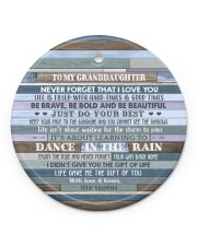 JUST DO YOUR BEST - GREAT GIFT FOR GRANDDAUGHTER Circle ornament - single (porcelain) front