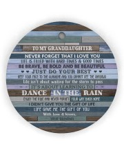 JUST DO YOUR BEST - GREAT GIFT FOR GRANDDAUGHTER Circle ornament - single (wood) thumbnail