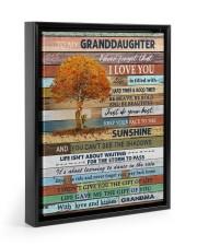 THE SUNSHINE - BEST GIFT FOR GRANDDAUGHTER 11x14 Black Floating Framed Canvas Prints thumbnail