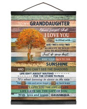 THE SUNSHINE - BEST GIFT FOR GRANDDAUGHTER 12x16 Black Hanging Canvas thumbnail