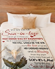 """YOU'RE MORE THAN JUST A SON-IN-LAW Large Fleece Blanket - 60"""" x 80"""" aos-coral-fleece-blanket-60x80-lifestyle-front-02"""