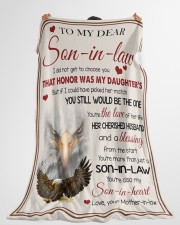 """YOU'RE MORE THAN JUST A SON-IN-LAW Large Fleece Blanket - 60"""" x 80"""" aos-coral-fleece-blanket-60x80-lifestyle-front-10"""