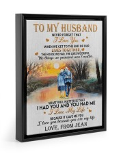 OUR LIVES TOGETHER - PERFECT GIFT FOR HUSBAND 11x14 Black Floating Framed Canvas Prints thumbnail