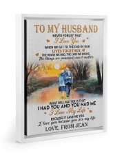 OUR LIVES TOGETHER - PERFECT GIFT FOR HUSBAND 11x14 White Floating Framed Canvas Prints thumbnail