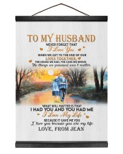 OUR LIVES TOGETHER - PERFECT GIFT FOR HUSBAND 12x16 Black Hanging Canvas thumbnail