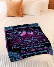 "I THINK ABOUT YOU - LOVELY GIFT FOR GRANDDAUGHTER Small Fleece Blanket - 30"" x 40"" aos-coral-fleece-blanket-30x40-lifestyle-front-01"