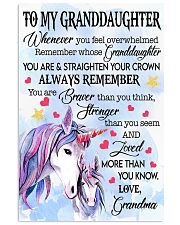 STRAIGHTEN YOUR CROWN- BEST GIFT FOR GRANDDAUGHTER 11x17 Poster front
