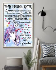 STRAIGHTEN YOUR CROWN- BEST GIFT FOR GRANDDAUGHTER 11x17 Poster lifestyle-poster-1