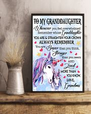 STRAIGHTEN YOUR CROWN- BEST GIFT FOR GRANDDAUGHTER 11x17 Poster lifestyle-poster-3