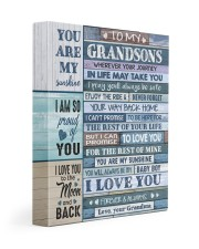 I LOVE YOU - AMAZING GIFT FOR GRANDSON 11x14 Gallery Wrapped Canvas Prints front