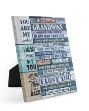 I LOVE YOU - AMAZING GIFT FOR GRANDSON Easel-Back Gallery Wrapped Canvas tile