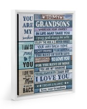 I LOVE YOU - AMAZING GIFT FOR GRANDSON Floating Framed Canvas Prints White tile