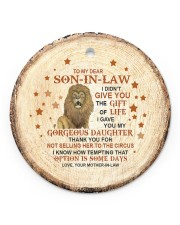 THANK YOU - BEST GIFT FOR SON-IN-LAW Circle ornament - single (porcelain) front