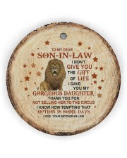 THANK YOU - BEST GIFT FOR SON-IN-LAW Circle ornament - single (wood) thumbnail