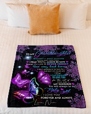 """BUTTERFLY WAY BACK HOME - NAN TO GRANDDAUGHTER Small Fleece Blanket - 30"""" x 40"""" aos-coral-fleece-blanket-30x40-lifestyle-front-04"""