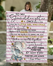 """I'LL STAY THERE - GRANDDAUGHTER GIFT WITH ELEPHANT Quilt 50""""x60"""" - Throw aos-quilt-50x60-lifestyle-front-01"""