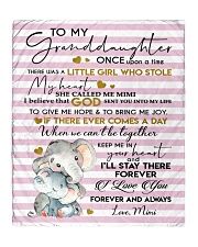 """I'LL STAY THERE - GRANDDAUGHTER GIFT WITH ELEPHANT Quilt 50""""x60"""" - Throw front"""