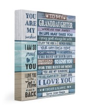 I LOVE YOU - GAGA TO GRANDDAUGHTER 11x14 Gallery Wrapped Canvas Prints front