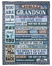 """BELIEVE IN YOURSELF - AMAZING GIFT FOR GRANDSON Small Fleece Blanket - 30"""" x 40"""" front"""