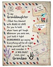 """HUGS AND LOVE - LOVELY GIFT FOR GRANDDAUGHTER Small Fleece Blanket - 30"""" x 40"""" front"""