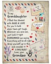 HUGS AND LOVE - LOVELY GIFT FOR GRANDDAUGHTER Fleece Blanket tile