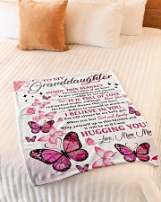 """I BELIEVE IN YOU - MOM MOM TO GRANDDAUGHTER Small Fleece Blanket - 30"""" x 40"""" aos-coral-fleece-blanket-30x40-lifestyle-front-01"""