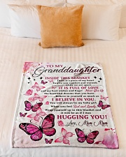 """I BELIEVE IN YOU - MOM MOM TO GRANDDAUGHTER Small Fleece Blanket - 30"""" x 40"""" aos-coral-fleece-blanket-30x40-lifestyle-front-04"""