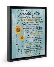 YOU ARE MY SUNSHINE - BEST GIFT FOR GRANDDAUGHTER Floating Framed Canvas Prints Black tile