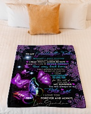 """MY BABY GIRL - SPECIAL GIFT FOR GRANDDAUGHTER Small Fleece Blanket - 30"""" x 40"""" aos-coral-fleece-blanket-30x40-lifestyle-front-04"""