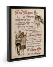 I HAVE YOU IN MY HEART - BEST GIFT FOR HUSBAND Floating Framed Canvas Prints Black tile