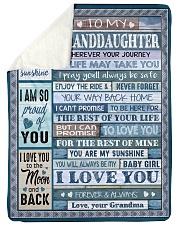 "I LOVE YOU - AMAZING GIFT FOR GRANDDAUGHTER Large Sherpa Fleece Blanket - 60"" x 80"" thumbnail"