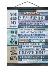 I LOVE YOU - AMAZING GIFT FOR GRANDDAUGHTER 12x16 Black Hanging Canvas thumbnail