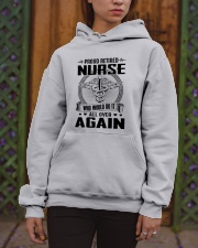PROUD RETIRED NURSE - PERFECT GIFT FOR GRANDMA Hooded Sweatshirt apparel-hooded-sweatshirt-lifestyle-front-03