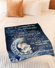 "KEEP ME IN YOUR HEART - GRANDMA TO GRANDSON Small Fleece Blanket - 30"" x 40"" aos-coral-fleece-blanket-30x40-lifestyle-front-01"