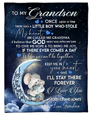 "KEEP ME IN YOUR HEART - GRANDMA TO GRANDSON Small Fleece Blanket - 30"" x 40"" front"