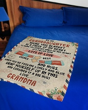 """PERFECT BLANKET FOR GRANDDAUGHTER FROM GRANDMA Small Fleece Blanket - 30"""" x 40"""" aos-coral-fleece-blanket-30x40-lifestyle-front-02"""