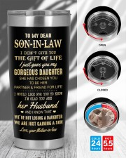 THE GIFT OF LIFE - LOVELY GIFT FOR SON-IN-LAW 20oz Tumbler aos-20oz-tumbler-lifestyle-front-45