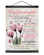 I'LL ALWAYS BE WITH YOU - GIFT FOR GRANDDAUGHTER 12x16 Black Hanging Canvas thumbnail