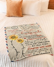 """I LOVE YOU - TO GRANDDAUGHTER FROM GRANDMA Small Fleece Blanket - 30"""" x 40"""" aos-coral-fleece-blanket-30x40-lifestyle-front-01"""