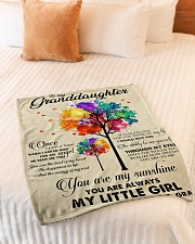 """MY LITTLE GIRL - PERFECT GIFT FOR GRANDDAUGHTER Small Fleece Blanket - 30"""" x 40"""" aos-coral-fleece-blanket-30x40-lifestyle-front-01"""
