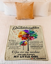 """MY LITTLE GIRL - PERFECT GIFT FOR GRANDDAUGHTER Small Fleece Blanket - 30"""" x 40"""" aos-coral-fleece-blanket-30x40-lifestyle-front-04"""