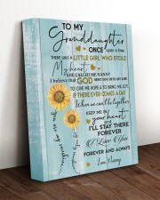 I LOVE YOU - GRANDDAUGHTER GIFT WITH SUNFLOWER 11x14 Gallery Wrapped Canvas Prints aos-canvas-pgw-11x14-lifestyle-front-17